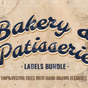bakery label template, graphic design