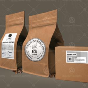 modern coffee labels